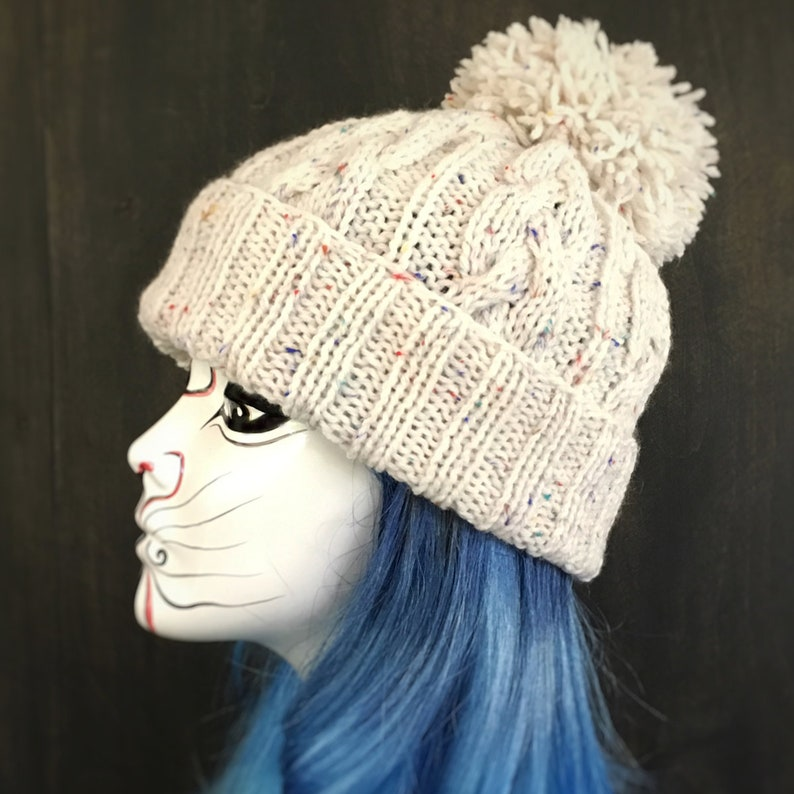 028ea7561ab SALE CLEARANCE Ready To Ship Cable Knit Pom Pom Beanie Hat