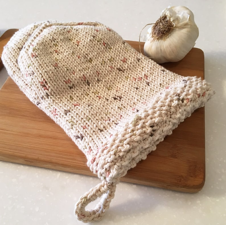 Oven Mitts KNITTING PATTERN Double Layer Pot Holder Knit ...