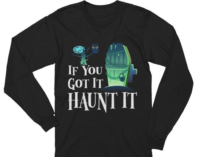 Featured listing image: Fun Halloween Shirt - Adult Halloween Tee - Long Sleeve Halloween Dress Up Party Shirt