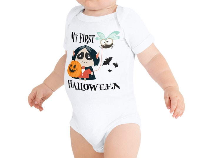 Featured listing image: 1st Halloween Outfit - Cute Halloween Bodysuit - Halloween Romper - Baby Halloween