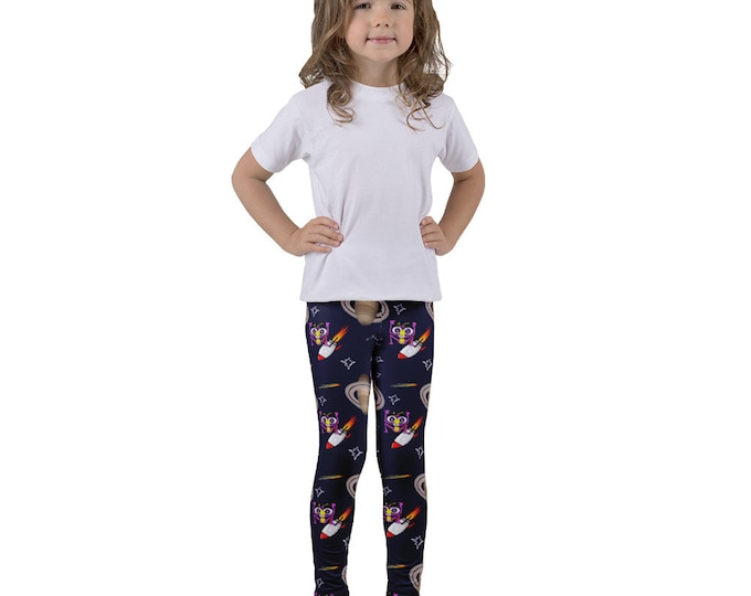 Featured listing image: Stellar Starships And Saturn Kid's Leggings