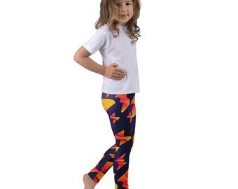 5935cd7669e48 Cute Kid's Leggings - Lightning Strike Pattern