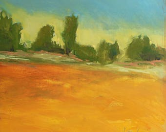 Along the West Road, Original Oil Painting