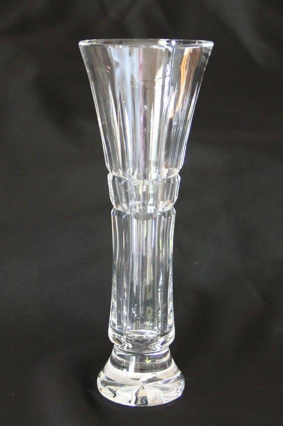 Vintage Waterford Crystal Bud Vase Round Glenmore Pattern Etsy