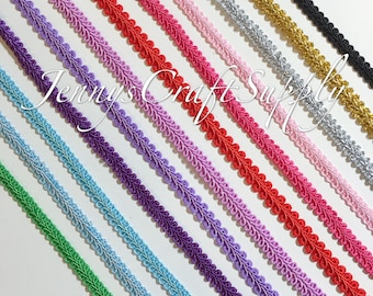1/2 inches Gimp trim, 36 colors available of gimp braided trim, braided cord, gimp cord