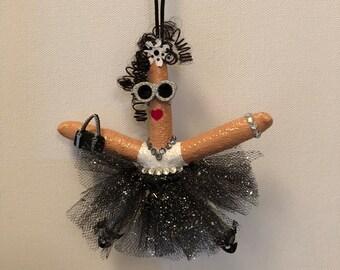 Starfish Ballerina ornament, personalized coastal ornament, personalized beach ornaments