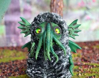 Cthulhu art doll art toy handmade ooak Fantasy Creature