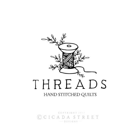 Premade Logo Sewing Logo Thread Logo Craft Logo Logo Design Etsy