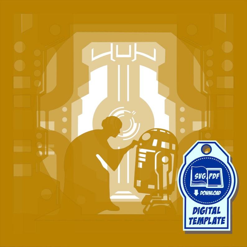 Star Wars Paper Cutting Light Box Template files 2 9x9 inch