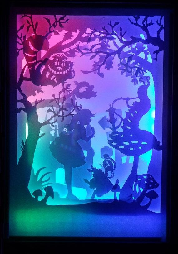 Alice In Wonderland 2 Paper Cutting Light Box Template Files