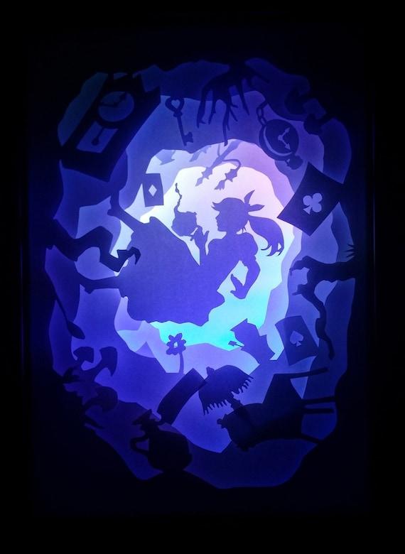 Alice im Wunderland Papier schneiden Licht Box | Etsy
