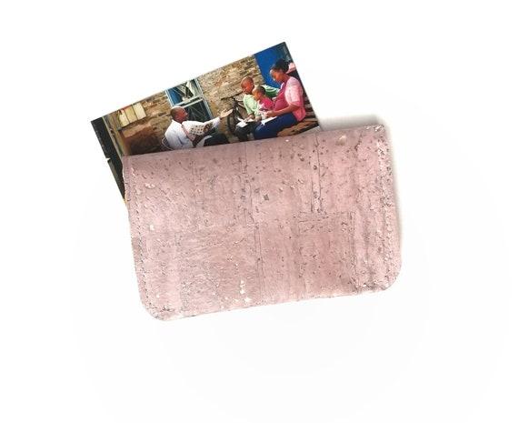 Or Rose Liege Cuir Carte De Visite Porte Monnaie