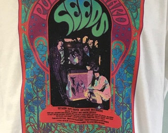 The Seeds Pushing Too Hard 60s Psychedelic Band T Shirt