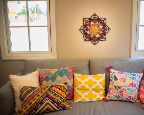 Wood Wall Art Wall Decor Living Room Bohemian Decor Etsy