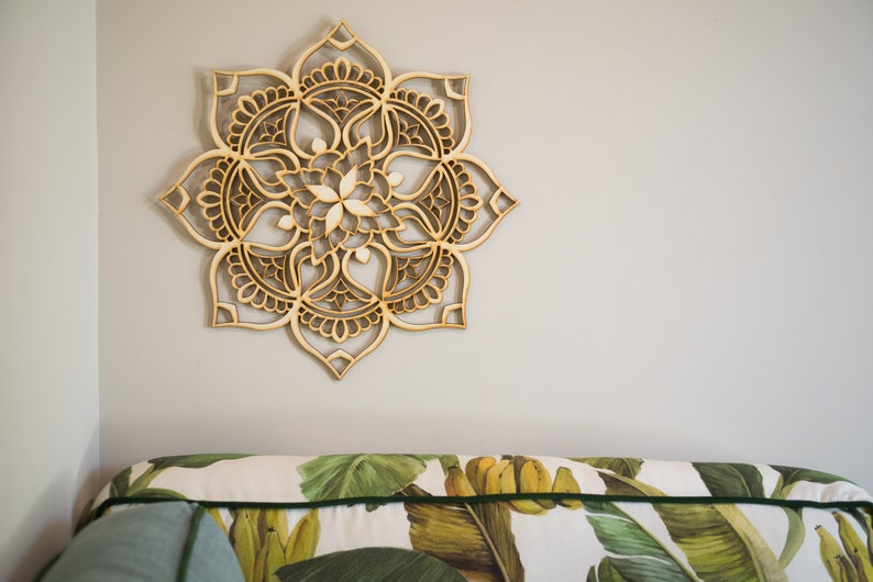 Mandala Wood Decor Living Room Wall Art Wood Wall Art Boho Home Decor Mandala Art Gift For Therapist Bohemian Decor Sacred Geometry