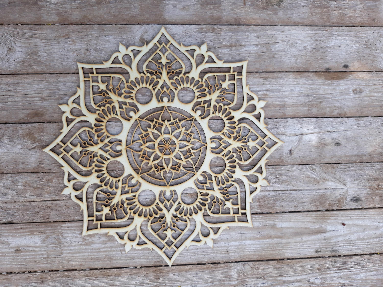 Bohemian Decor Mandala Wood Decor Bedroom Wall Art Ethnic Decor Boho Wall Decor Sacred Geometry Moroccan Decor Spiritual Gifts Yoga