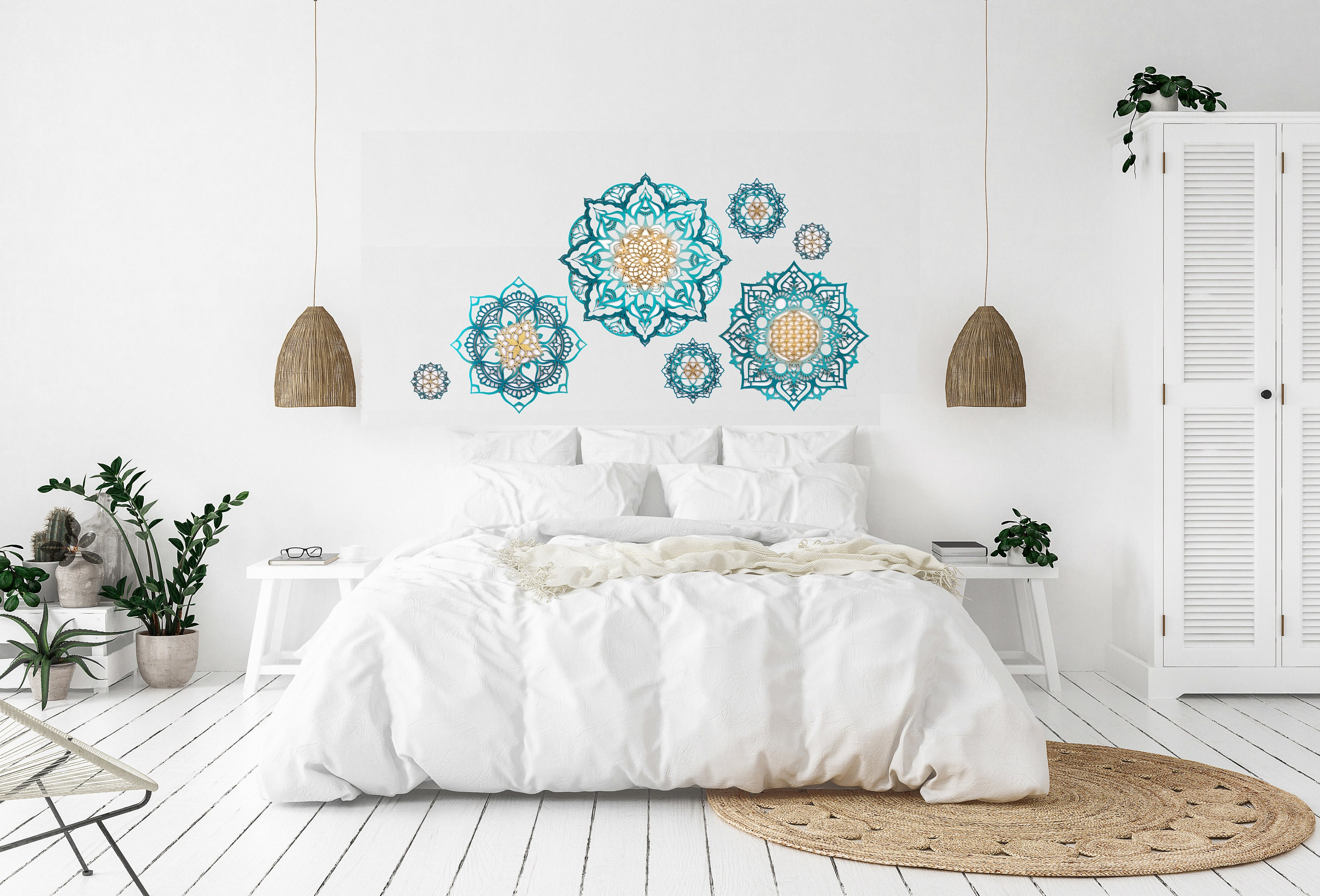 Wall Decor Set Wood Décor Bedroom Wall Decor Turquoise Wall   Etsy