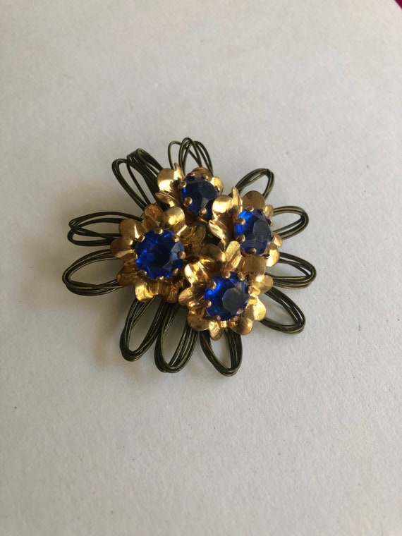 Antique flower dress clip