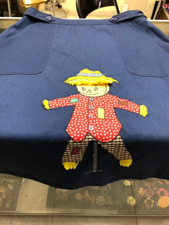 Vintage blue button scarecrow skirt - image 3