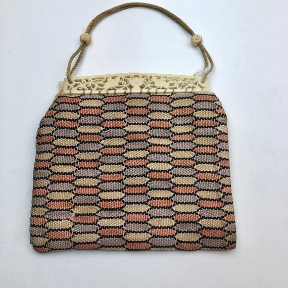 Celluloid & fabric vintage bag