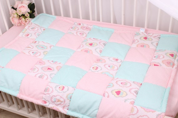Baby Milestone Blanket Baby Bedding Custom Baby Blanket Personalized Baby Gift Baby Girl Quilt Patchwork Minky Baby Blanket Baby Girl Pink