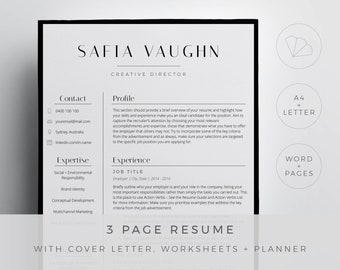 Stylish resumes | Etsy