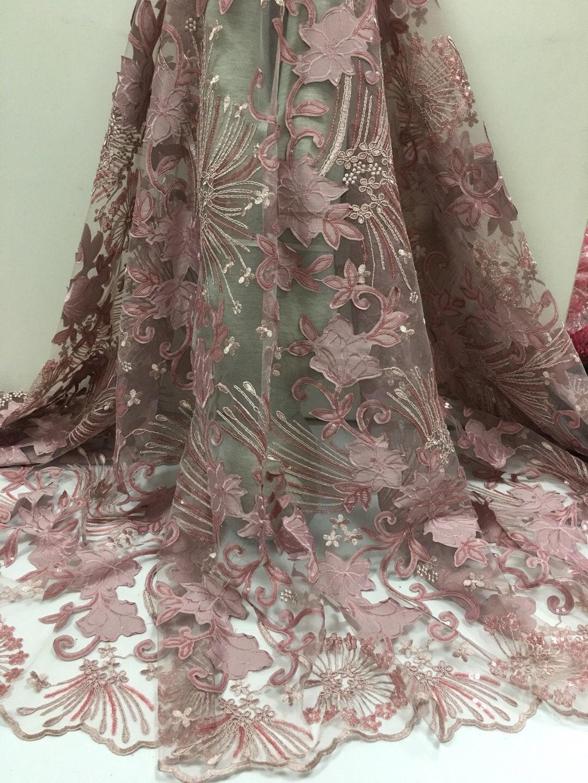 Dernière conception français laser en en en maille et dentelle avec paillettes pour parti robe .high qualité, tissu dentelle Afrique, rose, tissu de dentelle brodée. 8ef2df