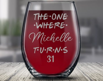 Personalized 31st Birthday Glass Gift For Women And Men Happy 31 Years Ideas Her Him