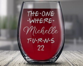 Personalized 22nd Birthday Glass Gift For Women And Men Happy 22 Years Ideas Her Him