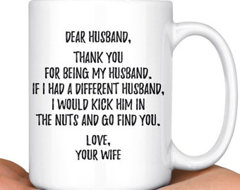 Funny Husband Mug Gift For Mr Hubby Valentines Day Birthday To My Anniversary