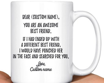 Personalized Best Friend Mug Friends Forever Bestie Gift BFF Coffee Birthday
