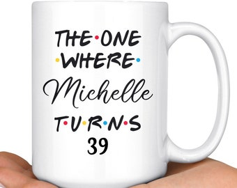 Personalized 39th Birthday Mug Happy Party Gift For Her Him Thirty Ninth Bday Present Ideas