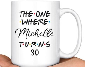 Personalized 30th Birthday Mug Happy Party Gift For Her Him Thirtieth Present Milestone