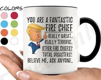 Funny Fire Chief Coffee Mug, Trump Fire Chief Gifts, Best Fire Chief Birthday Gift, Fire Chief Appreciation, Fire Chief Gifts Men & Women