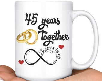 45 Years Married Etsy