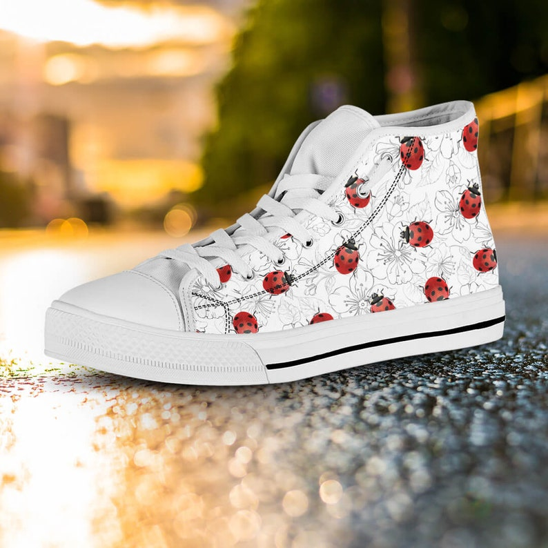 10531f430d6f Ladybug Women s Shoes Art Ladybird Shoes Pattern White