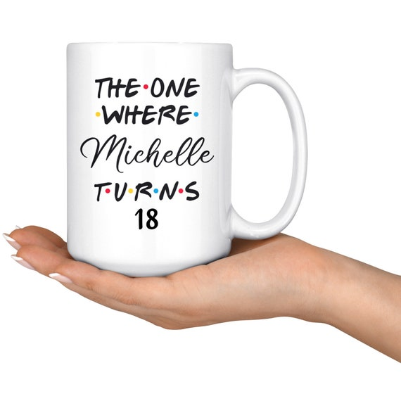 Personalised 18th Birthday Mug Fab Name Cup Gift Present Her Friend Heart 18
