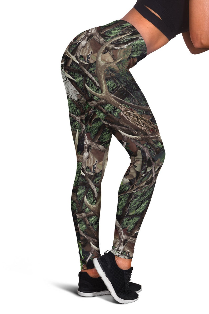 3d21fb110e749c Realistic Deer Moose Elk Racks Women Leggings Deer Hunting | Etsy