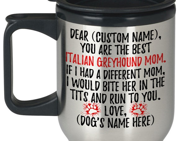 Piccolo Levriero Dog Owner Women Gifts Details about  /Personalized Italian Greyhound Mom Mug