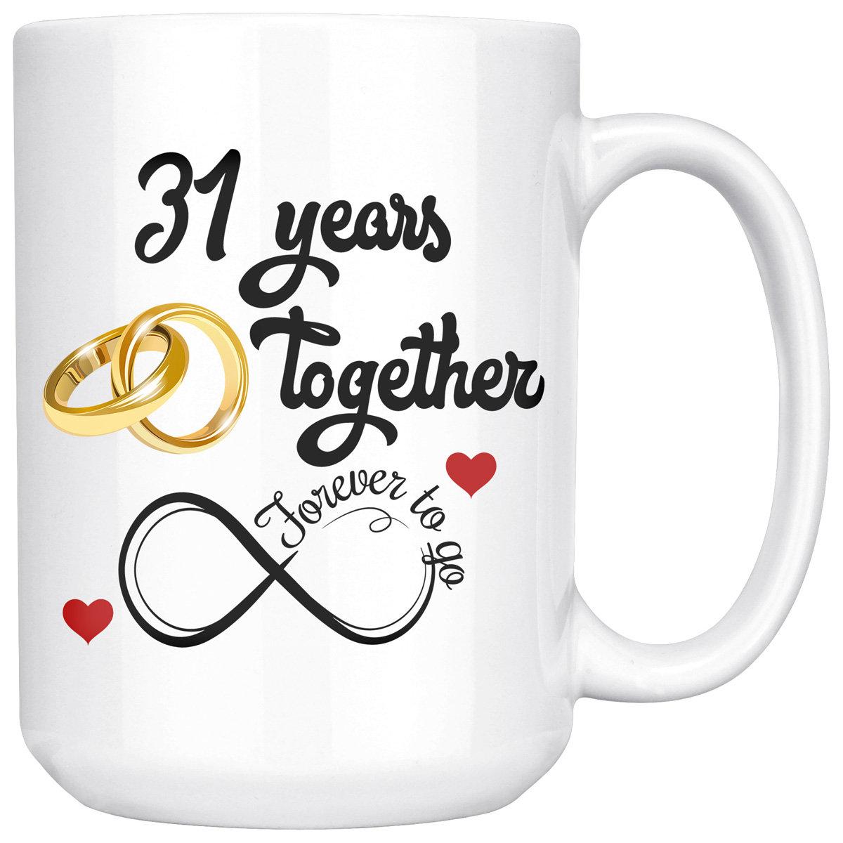 31 Jahre verheiratet 31. Hochzeitstag Geschenk für Sie und