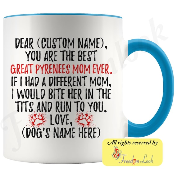 Personalized Great Pyrenees Dog Mom Coffee Mug Great Pyrenees Owner Women Gifts