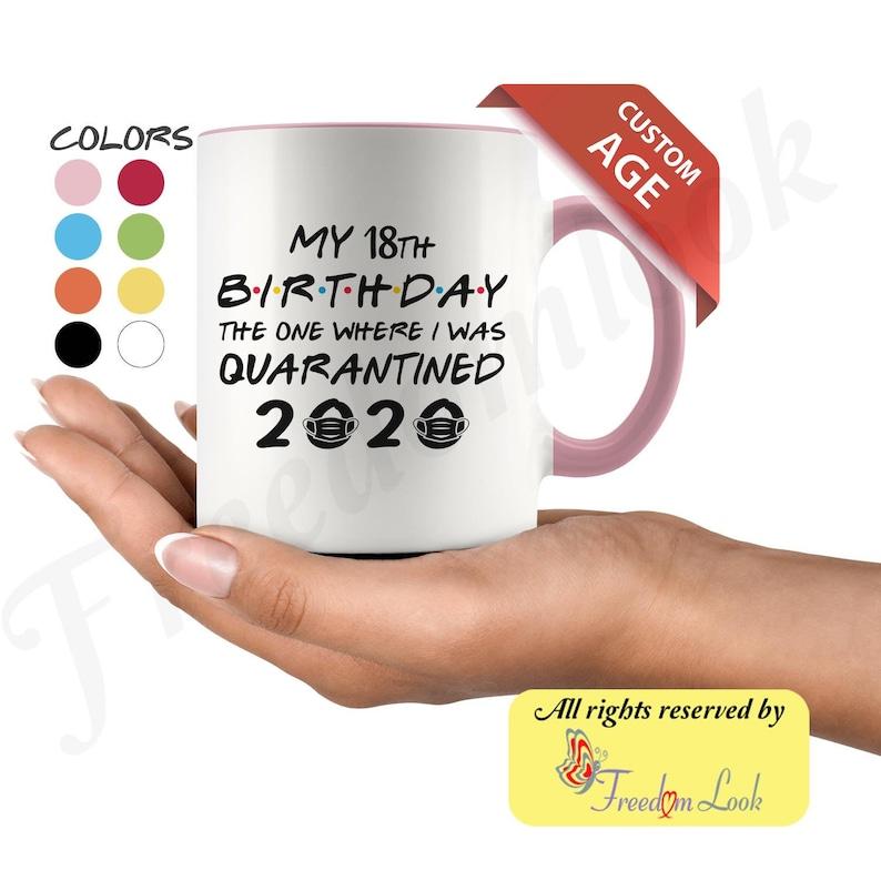 Custom Age Birthday 2020 16 21st 30th Quarantine Lockdown image 0