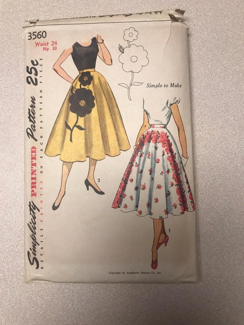 Vintage 1951 simplicity pattern 3560
