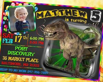 Jurassic World Invitations, Jurassic World Party, Jurassic Park Invitation, Jurassic Park Party, Jurassic World Birthday Invitation,Dinosaur