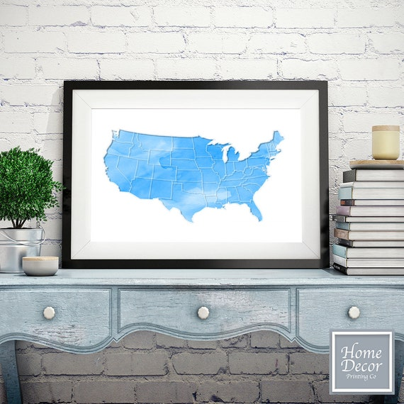 Us Map On Cork Board.Watercolor Usa Map Push Pin Board Map Cork Board Map Etsy