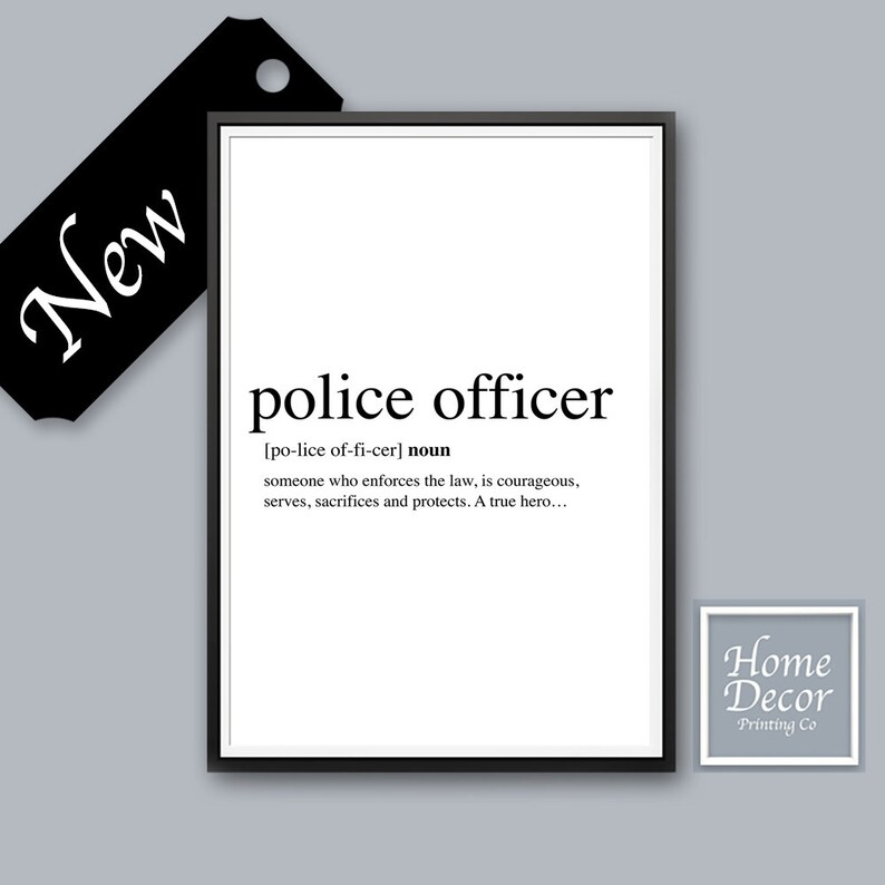 Police Officer Inspiring Quote Art Thank You Protect And Etsy
