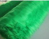 Green Faux Fur Craft Squares, Fur Fabric, Turquoise Faux Fur Fabric, Fur, Fake Fur