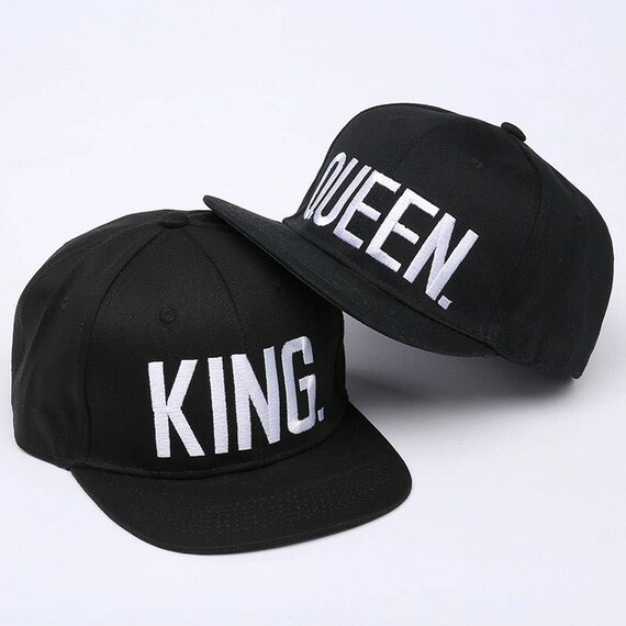 KING   QUEEN Snapback Peak adjustable Cap hipster black  9e9bb65eb407