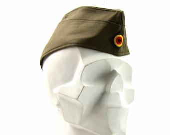 Genuine Swiss army Side cap Switzerland military garrison cap wool envelope hat