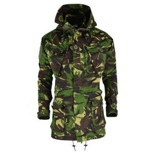 Original Belgian army military combat M90 field jacket parka JIGSAW CAMO surplus